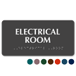 Braille Tactile Touch Electrical Room Sign