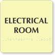 Tactile Touch Braille Electrical Room Sign