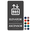 Bilingual Elevator Ascensor Braille Sign