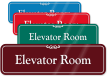 Elevator Room ShowCase Wall Sign