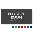 Elevator Room Tactile Touch Braille Sign