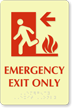 Emergency Exit Only Door Sign