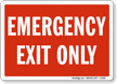 Emergency Exit Pool Sign