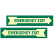 Emergency Exit With Right Arrow Glow Sign