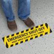 Emergency Shut Off Floor Sign