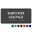 Employee Lounge TactileTouch Braille Sign