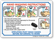 Hand Washing Instructions, Employees Wash Hands Sign
