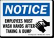 Hand Hygiene Notice Sign
