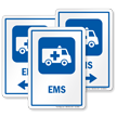 EMS Emergency Medical Services Hospital Sign