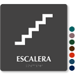 Escalera Spanish Tactile Touch Braille Sign