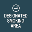 Designated Smoking Area, with Graphic