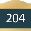 Room Sign, raised number braille