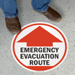 Emergency Evacuation Route with Arrow