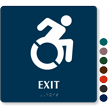Exit Braille Sign with Updated Accessible Pictogram