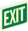 Glowing Exit Z-Sign for Ceiling