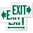 Exit with Green Right Arrow Direction Sign