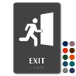 Exit TactileTouch Braille Sign