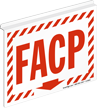FACP Down Arrow Z-Projecting Sign