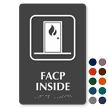 Facp Inside Symbol TactileTouch™ Sign with Braille