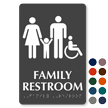Family And Handicap Restroom TactileTouch Braille Sign