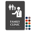 Family Clinic TactileTouch Braille Hospital Sign