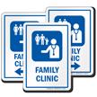 Family Clinic Hospital Sign