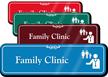 Family Clinic Hospital Showcase Sign