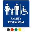 9in. x 9in. Family Braille Restroom Sign