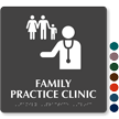 Family Practice Clinic TactileTouch Braille Hospital Sign