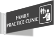 Family Practice Clinic Corridor Projecting Sign
