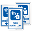 Family Practice Clinic Hospital Sign