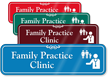Family Practice Clinic Hospital Showcase Sign