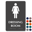 Dressing Room TactileTouch Braille Sign with Female Symbol