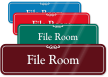 File Room ShowCase Wall Sign