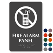 Fire Alarm Panel Symbol TactileTouch™ Sign with Braille