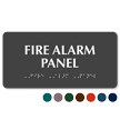 Fire Alarm Panel Tactile Touch Braille Sign