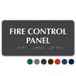 Fire Control Panel TactileTouch Braille Sign