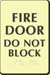 Glow In The Dark Fire Door Braille Sign