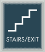 Stairs - Fire Door Keep Closed Sign