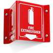 Fire Extinguisher Projecting Directional Sign