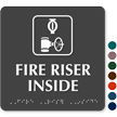 Fire Riser Inside TactileTouch™ Sign with Braille