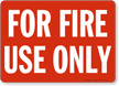 Glow-In-The-Dark Fire And Emergency Sign