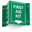First Aid Kit with Down Arrow Sign