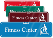 Fitness Center ShowCase Wall Sign