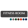Fitness Room TactileTouch Braille Sign