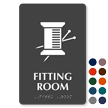 Fitting Room Symbol TactileTouch™ Sign with Braille