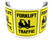 180 Degree Projecting Forklift Traffic Sign with graphic
