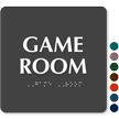Game Room TactileTouch™ Sign with Braille