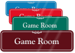 Game Room ShowCase Wall Sign