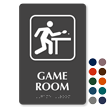 Game Room ADA Symbol TactileTouch™ Sign with Braille